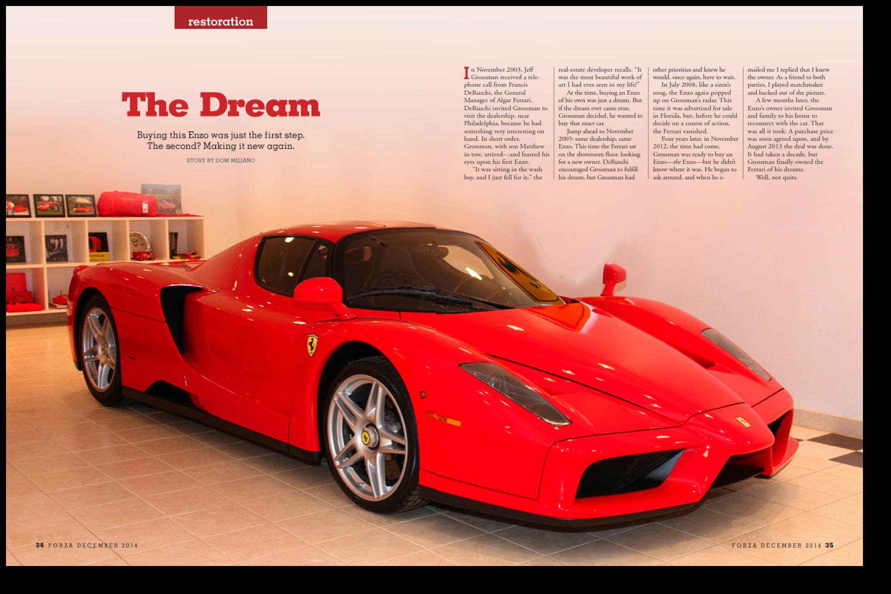 the dream enzo restored - Ferrari 2014 Enzo